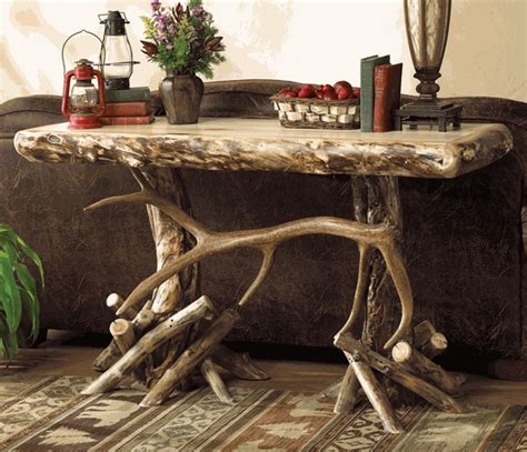 Western Sofa Table Western Furniture Aspen Elk Antler Console Sofa Table