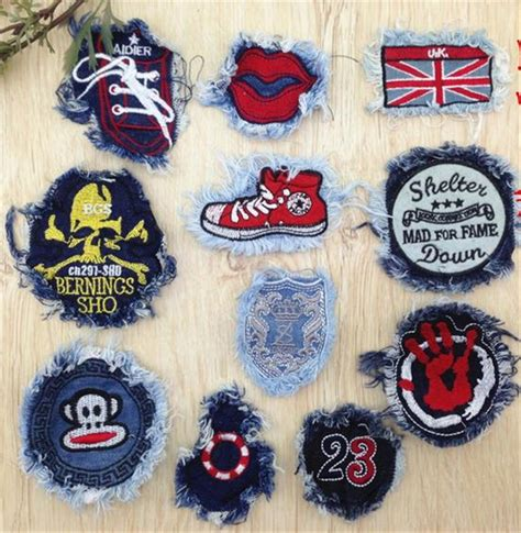 Patchwork Patches - patch bordados diy embroidered iron on patches for clothes
