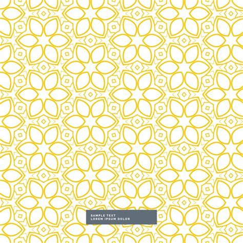 background pattern yellow vector cute yellow floral pattern on white background vector