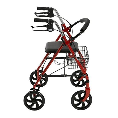 rollator with seat second drive four wheel rollator with fold up removable
