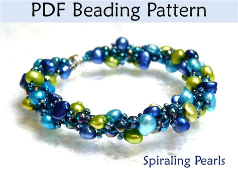 beaded bracelet patterns beading tutorial pattern bracelet necklace spiral stitch