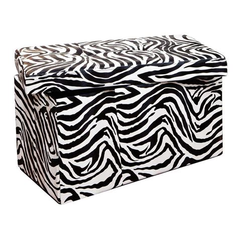 zebra storage ottoman zebra storage ottoman ore international zebra storage