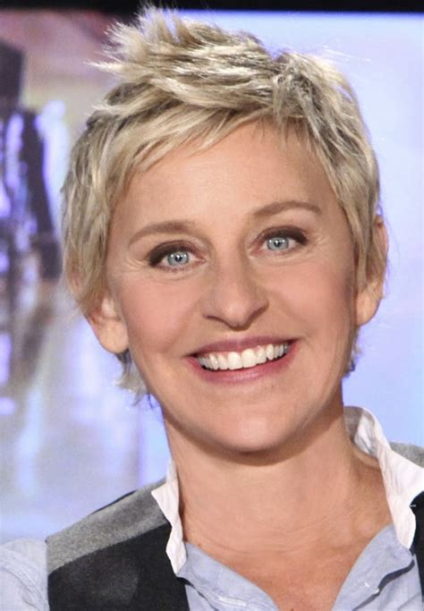 need a short haircut for person in their 60 s ellen degeneres comedian tv host dory from finding nemo