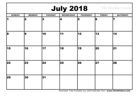 printable calendar 2018 july july 2018 calendar printable word happyeasterfrom com