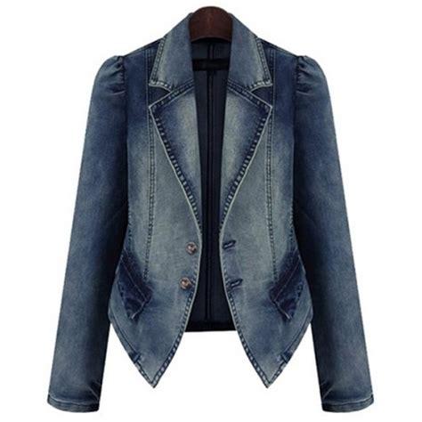Lapel Denim Jacket lapel collar sleeves buttons stylish denim jacket for