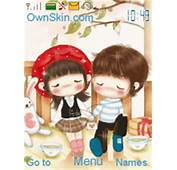 Animated Cute Lovely Couple  Mobile Themes For Nokia Asha 203