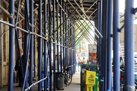 Sidewalk Shed Nyc by Buildings News September 2017