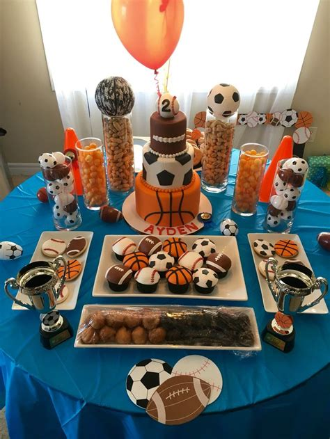 Sports  Ee  Birthday Ee   Theme Dessert Table For Aydens Nd