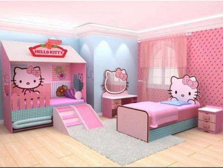 pink childrens bedroom ideas amazing pink hello kitty themes and modern decoration in