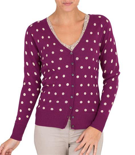 Cmb Vneck Dot Pink magenta 30 silk 70 cotton s spot v neck