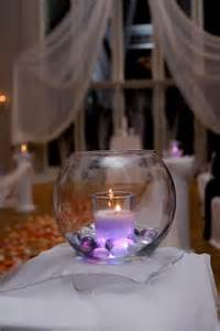 glass centerpieces for weddings beautiful purple candles and wedding on