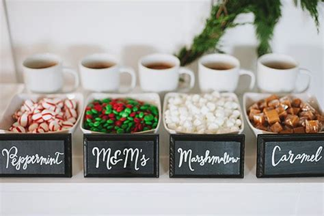 coffee bar toppings hot chocolate bars sweet and hot cocoa bar on pinterest