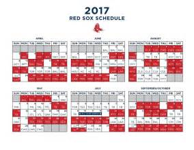 sox schedule home sox 2017 mlb schedule released cubs cardinals among