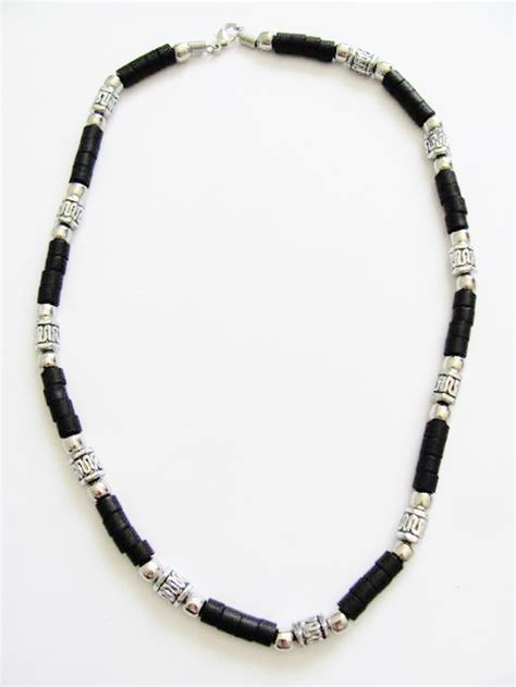 mens bead necklaces cancun s necklace beaded brown