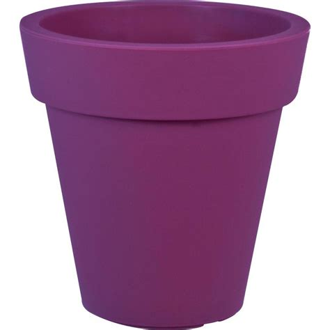 Purple Planter by Mela 18 In Dia Purple Plastic Planter 83450 The