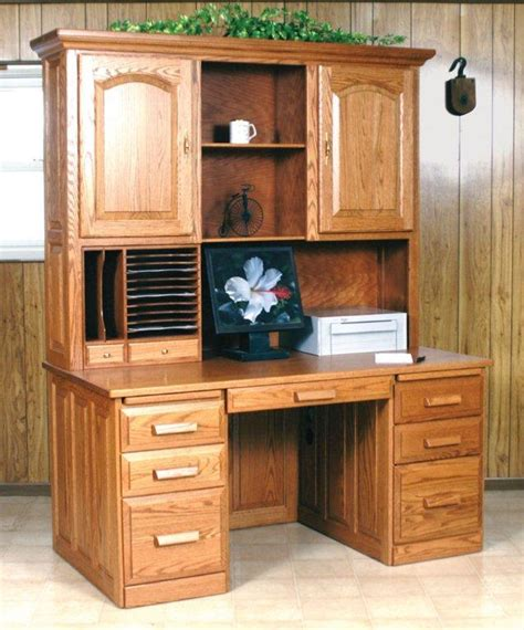 Desk With Hutch For Sale Amish Flat Top Computer Desk With Hutch