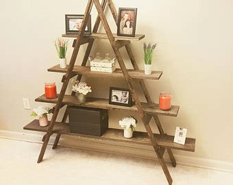 Decorative Bookcase Ladder Shelf Etsy