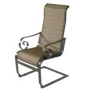 Sling Spring Patio Chairs Patio Furniture Richton Aluminum Spring Sling Dining