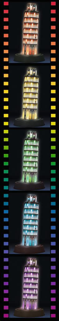 Cubic Puzzle 3d Leaning Tower Of Pisa Large Size leaning tower of pisa edition 3d puzzle 174 216pc image 3 click to zoom