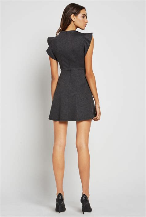 Flutter Sleeve Dress ponte flutter sleeve dress