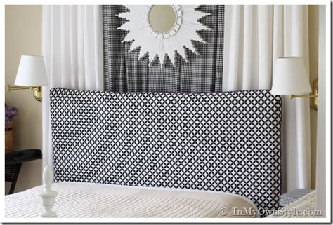 Easy Sew Reversible Padded Headboard Cover In My Own Style How To Make A Fabric Covered Headboard