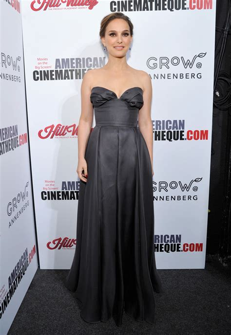 Nathalie Dress natalie portman strapless dress natalie portman looks