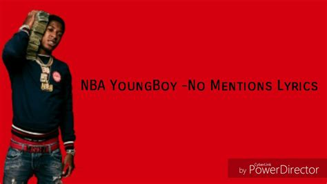 youngboy never broke again no mentions lyrics nba youngboy no mentions lyrics youtube