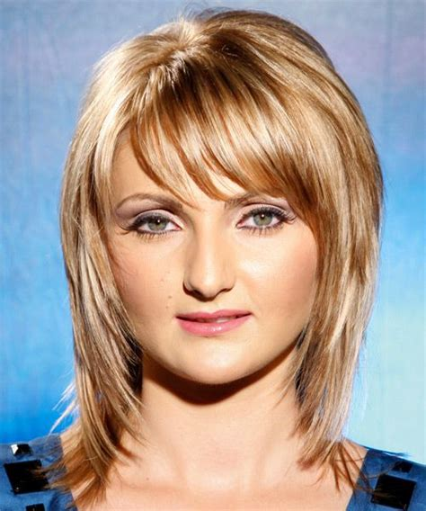 hairstyle poof crown long layers long straight casual hairstyle with side swept bangs