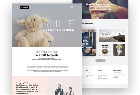 pinterest layout psd quotes free psd website template graphicsfuel