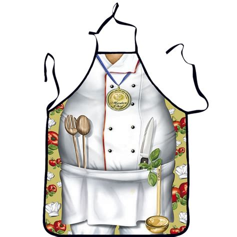 apron pattern using a man s shirt fashion sexy man women printed bibs home apron cooking
