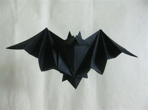 Easy Origami Bats - origami bat by orimin on deviantart