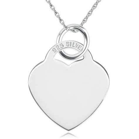 shaped sterling silver necklace can be personalised