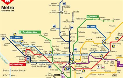 barcelona metro map spain metro map