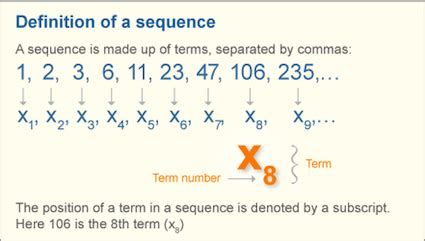 pattern sequence meaning unit 1 sequences and series mr scott s math class
