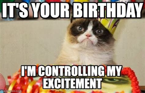 Cat Birthday Memes - it s your birthday grumpy cat birthday meme on memegen