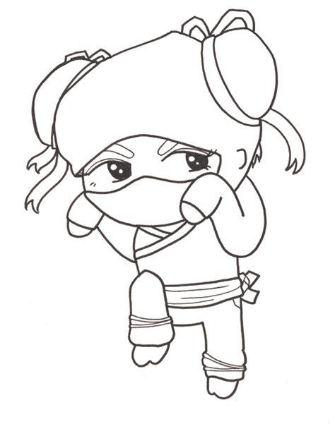 girl ninja coloring page cute chibi girl easy drawings sketch coloring page