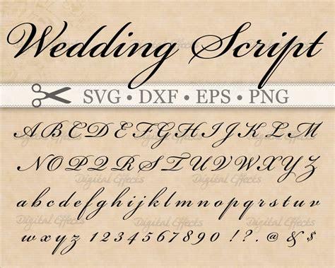 Wedding Font Gimp by Wedding Script Monogram Font Svg Dxf Eps Png Digital