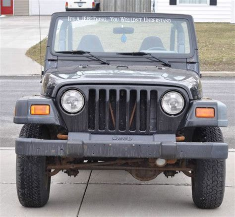 Jeep Wrangler 4 Cylinder Purchase Used 1999 Jeep Wrangler Tj Se 4 Cylinder Project