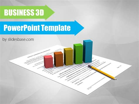 financial powerpoint templates financial 3d powerpoint template slidesbase
