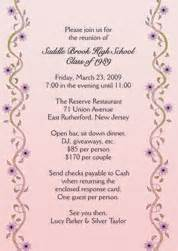 class reunion invitations