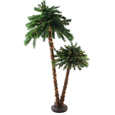 tropical lighted christmas tree 6 pre lit tropical palm tree artificial tree clear lights walmart