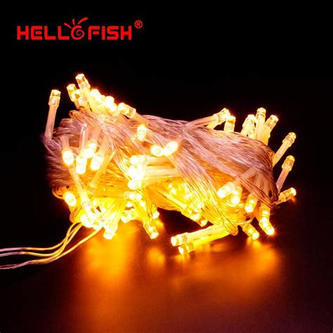 hello fish 2015 new christmas light ac110v 220v 10m 100