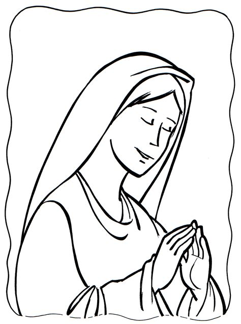 imagenes de mujeres orando para colorear im 225 genes para colorear de la virgen mar 237 a banco de