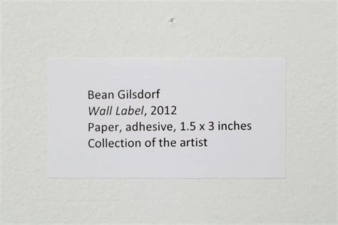 How To Label An Exhibition Burnaway Artist Label Template