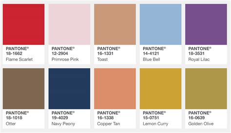 web colors 2017 pantone fashion color report for london autumn winter
