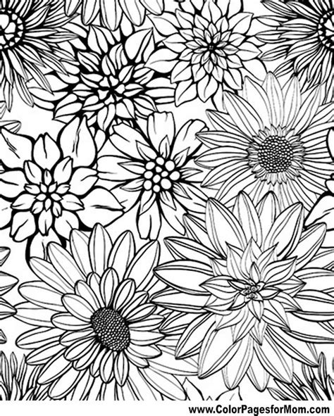 coloring pages designs flowers flower coloring page 79 coloring therapy pinterest