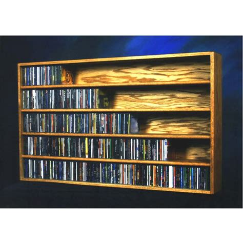 wood shed solid oak wall or shelf mount cd rack 590 cd