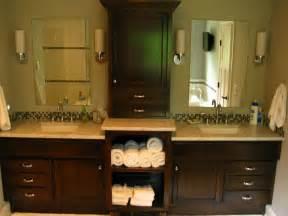 bathroom vanity with center linen cabinet double vanity with linen cabinet for double sink vanity