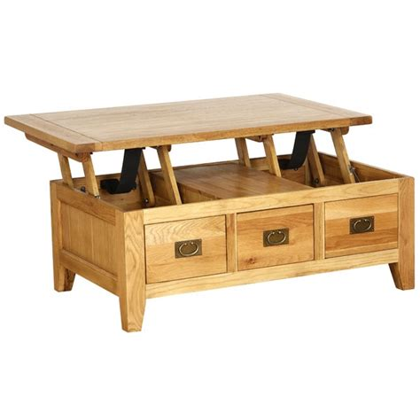 coffee table with lift up top vancouver oak coffee table with 3 drawers and lift