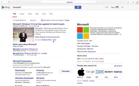 search designs bing also testing google s search design interface